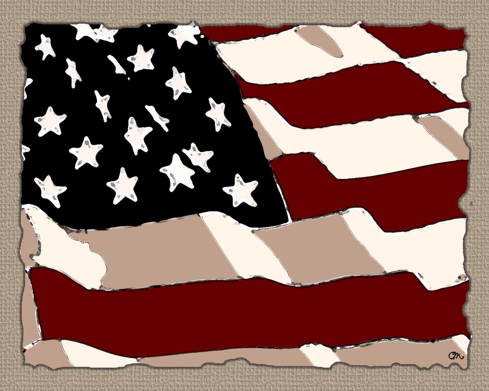 american flag freebie photoshop