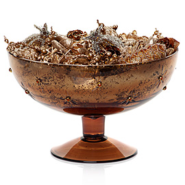 This copper bowl from Z Gallerie is perfect for the harvest season.