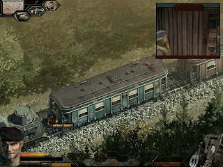 commandos green barret spy and thief in train