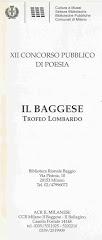 XII Concorso pubblico di poesia il baggese.