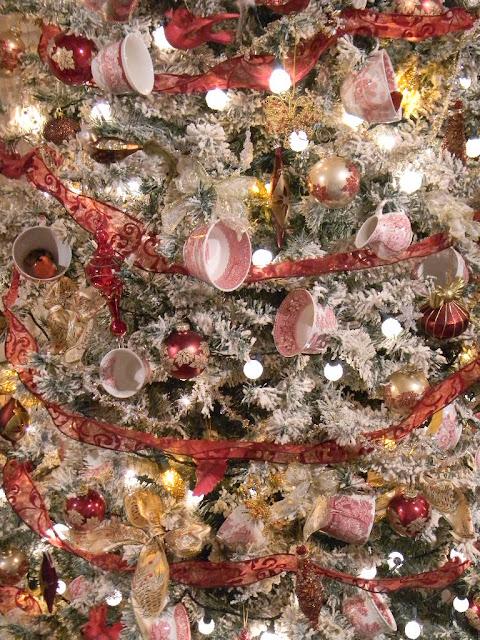 - My Red Transferware Teacup Christmas Tree