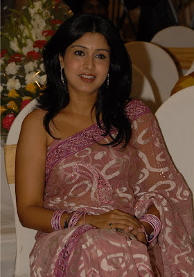 Tamil actress in transparent saree