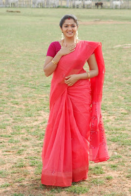 Karthika in pink saree photo album