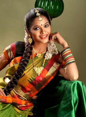 Madhumitha in half saree