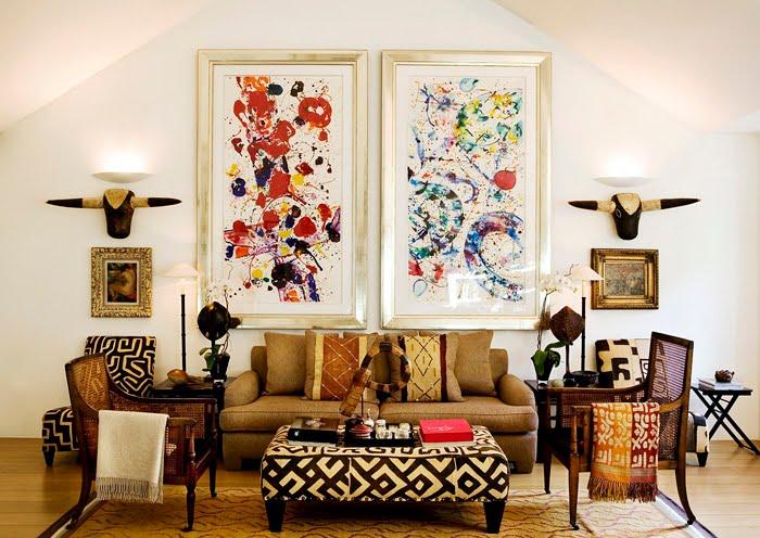 Inredningskaos tavlor i tankarna for Eclectic house design