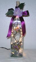 Elegant Lighted Wine Bottles