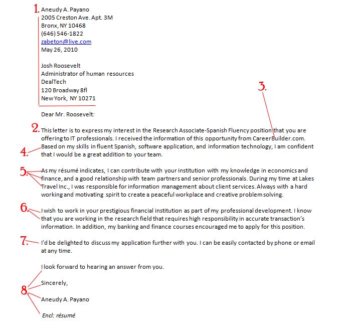Que Es Una Cover Letter Como Escribir una Carta de Trabajo o Cover Letter Profesionalmente (Incluye Imagen)