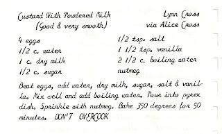 how to make custard from custard powder and powdered milk