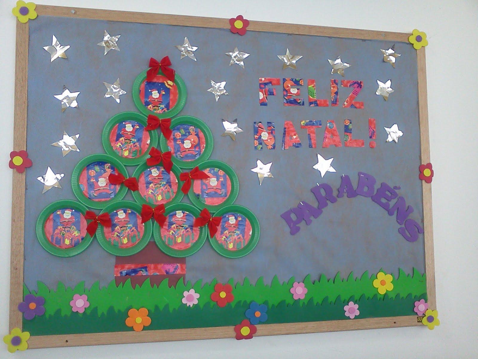 Blog escola ideias para o natal for Mural sobre o natal