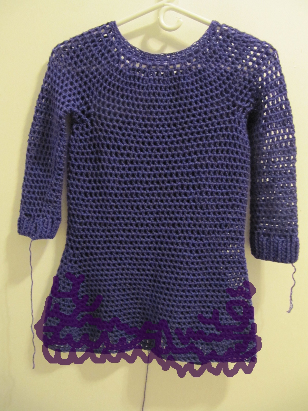 Crocheting Sweaters : Crochet Sweater Dress!