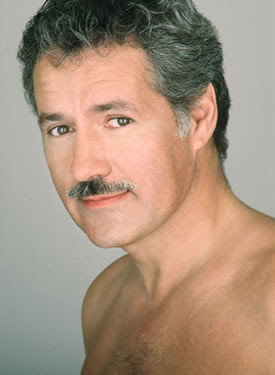 Shirtless Alex Trebek?