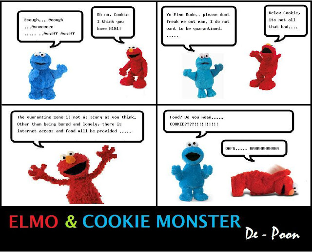 Elmo With Cookie Monster