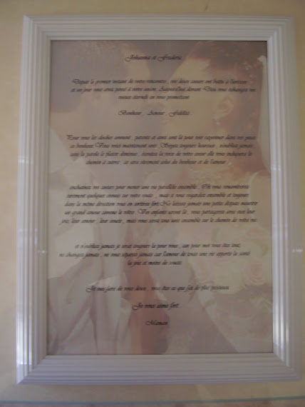 cadeau original votre discours imprimé en souvenir pour les mariée