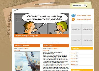 free foodiary blogspot template