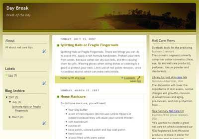 hosting blogger template