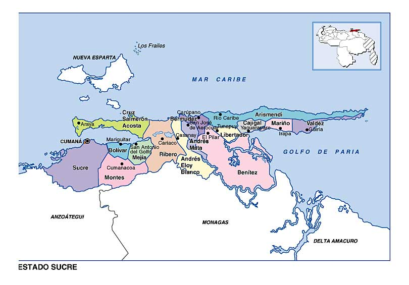 municipios y capitales de venezuela: