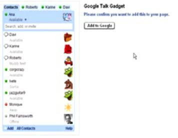 Google talk Gadget
