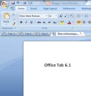 Menu Tab di MS.Office