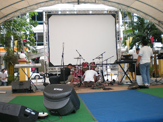 Outdoor Movies in Kapit, Malaysia