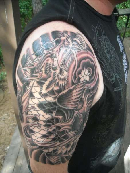 japanese dragon tattoo designs for men. Japanese dragon tattoos can