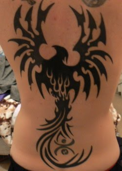 tribal tattoos designs japanese phoenix tattoo. Black Bedroom Furniture Sets. Home Design Ideas