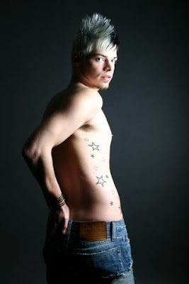 Trendy Star Tattoo for Men