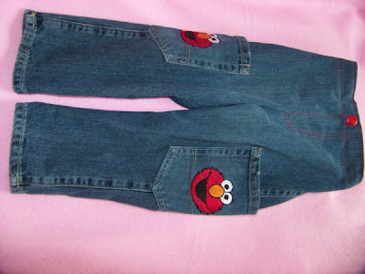Bouncing Buttons Crafts Making It Simple Elmo Jeans