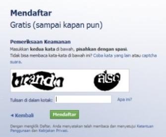 Cara isi verifikasi gambar di Facebook (FB)