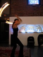 Lynn Flame-Twirling at Art2Art4