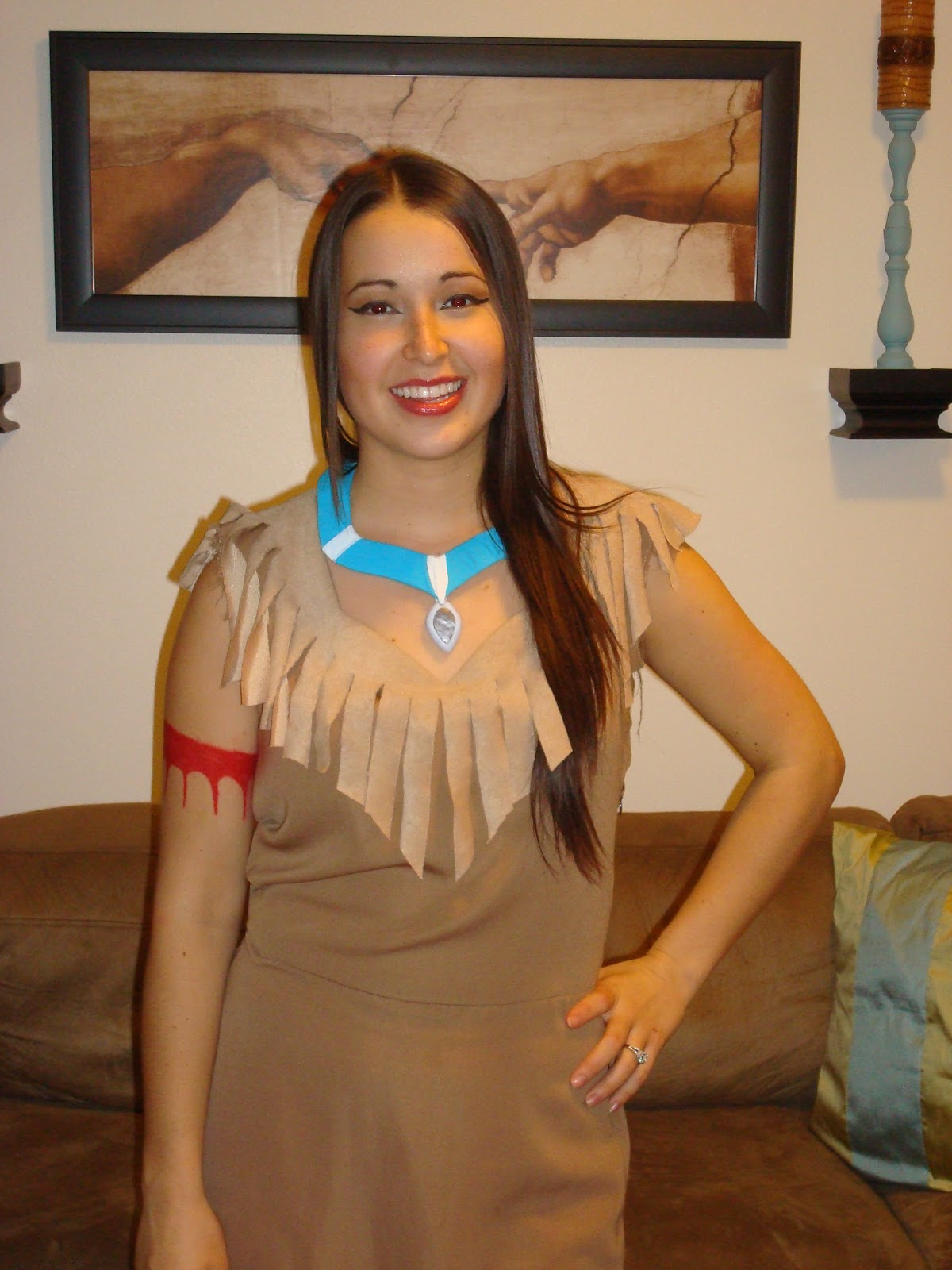 Diy Pocahontas Costume Hand Picked Plu...