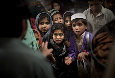 Poor Pakistani Children without electricity