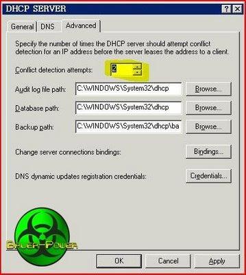 ERROR DHCP CONFLICT
