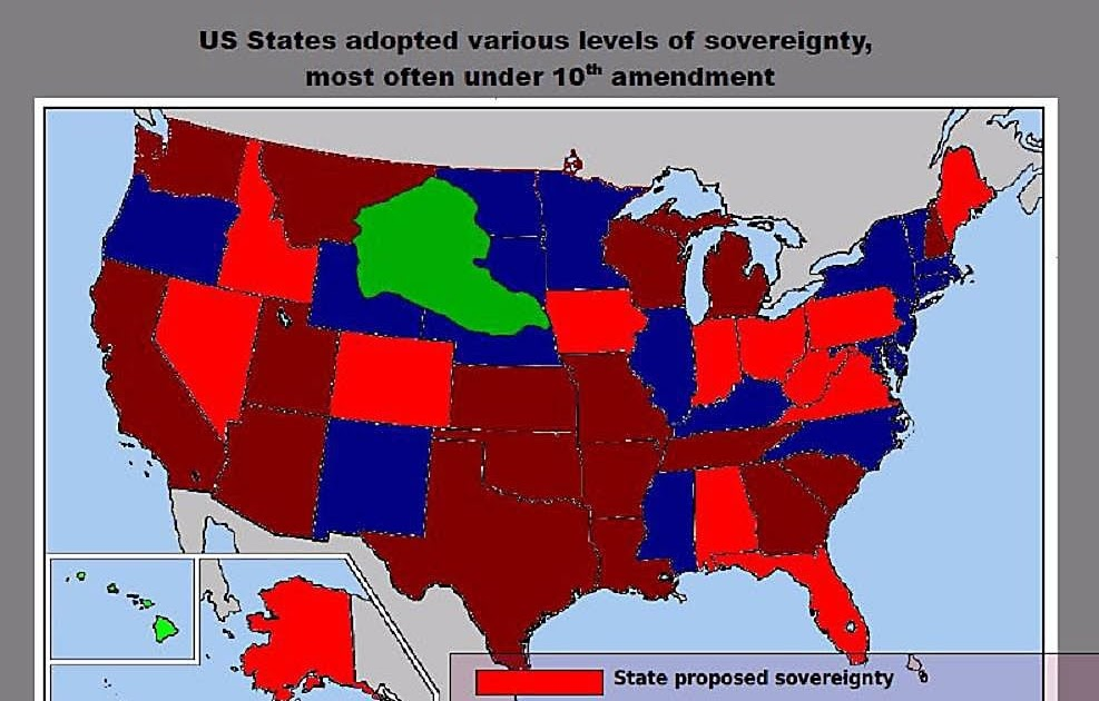the conflict between states sovereign rights and federal sovereign rights in the united states And materials concerning the rights of states under the united states constitution skeptical of states' rights between the federal and state.