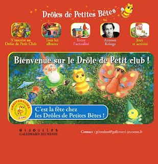 Le site des albums Drôles de petites bêtes, thème des insectes au cycle 1