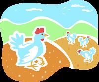 poule-mur-picoter-pain-dur-parole-chanson-enfant