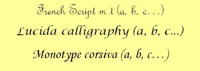 Police moitié script moitié cursive pour cycle 1