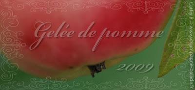 Etiquette confiture gelée pomme gratuite Version romantique aquarelle Photo à télécharger et imprimer