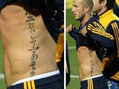 david beckam tattoo. eckham tattoo. David