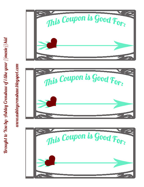 I like your moxie kid free valentine 39 s day printable for Coupon template for pages