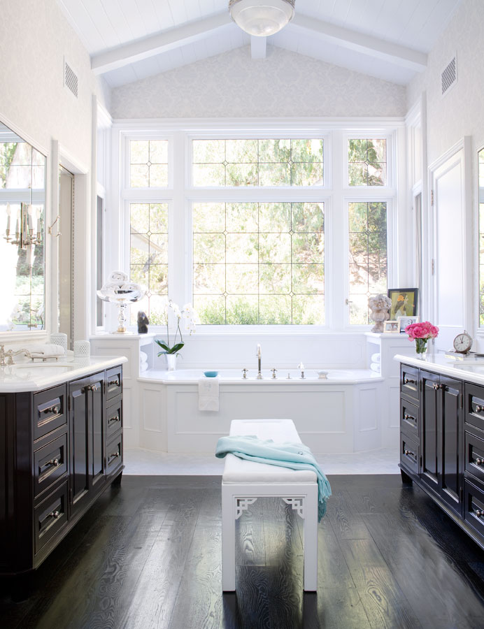 Splendid sass windsor smith interior design for Master bathroom his and hers