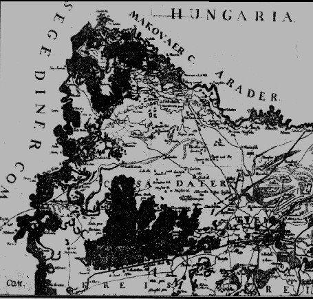 Harta lui Grisselini din anul 1780