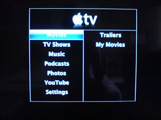 Apple TV - menu screen