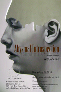 """Abysmal Introspection,"" 2nd solo exhibition of Art Sanchez"