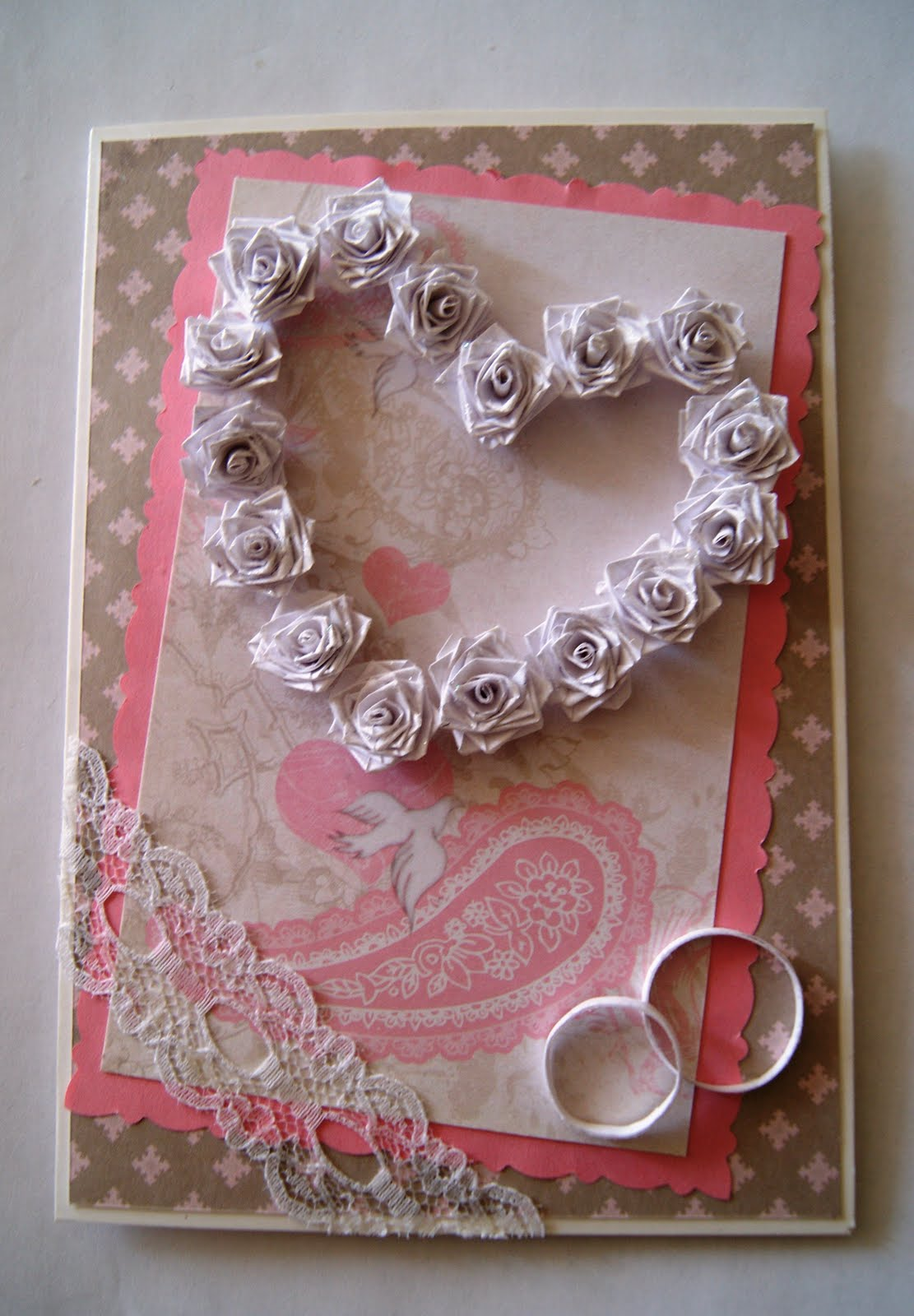 Квиллинг открытки к свадьбе 82