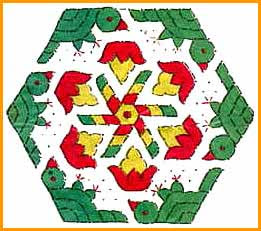 How to Make a Simple Diwali Rangoli Pattern Design with Dots