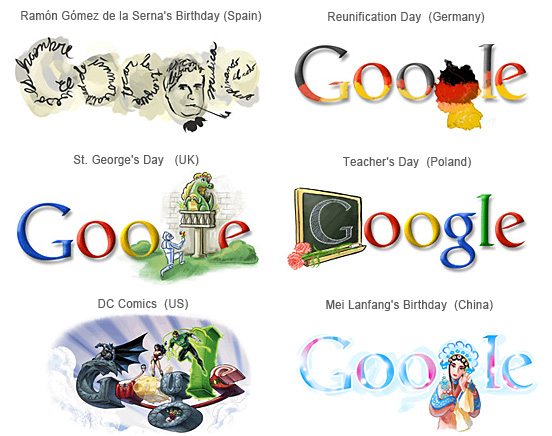 Google Logos Collection Part -