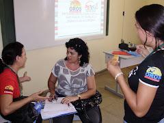 trabalhos em grupos com as coordenadoras pedagogicas
