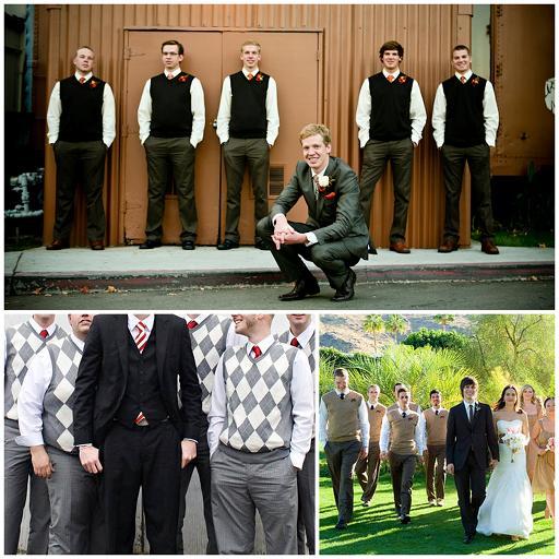sweater vests wedding fashionable groomsmen