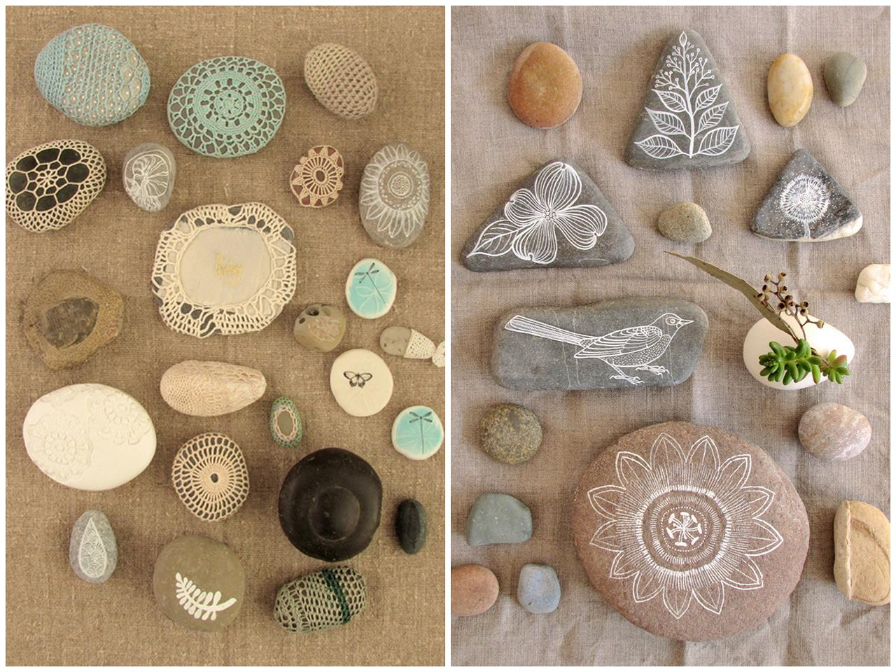 Mad about pink diy pebbles for River rock craft ideas