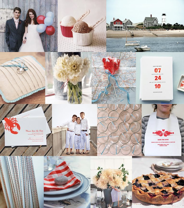 Perfect New England Party This inspiration board from Snippet and Ink they